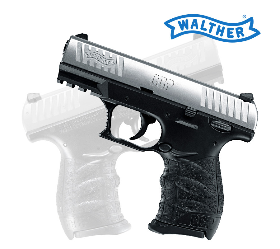 Walther CCP 9mm Selbstladepistole Stainless Silber 508.00.01